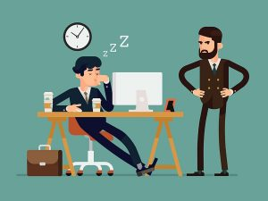 lazy employee portrayal