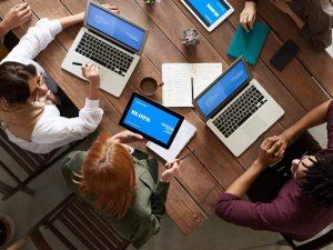 Web design meeting